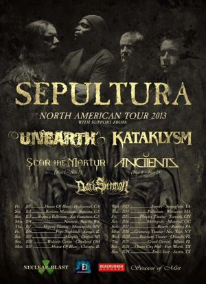 Kataklysm US Tour Flyer