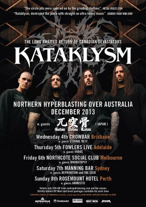 Kataklysm In Australia