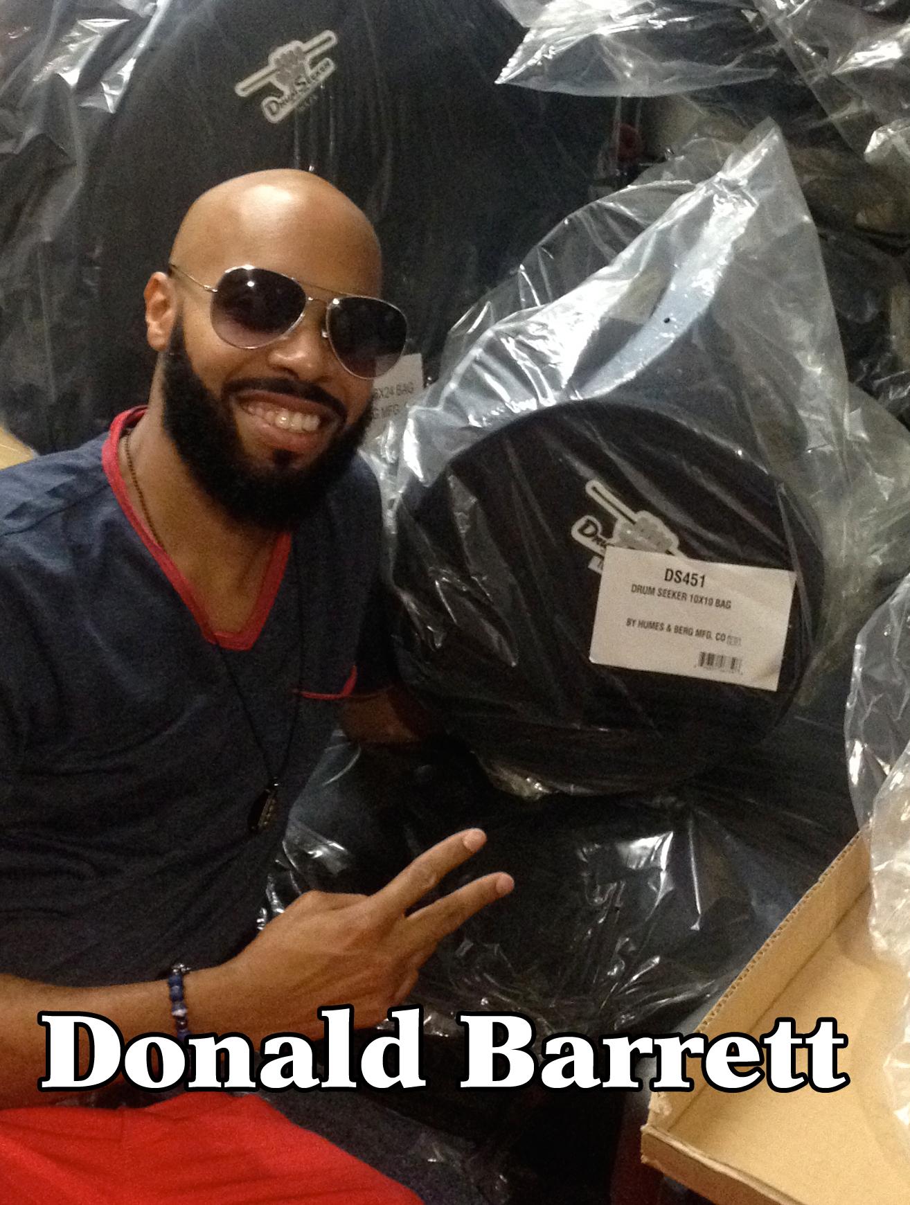 Donald Barrett Close Up