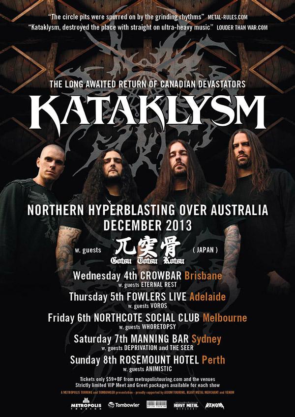 Kataklysm In Australia