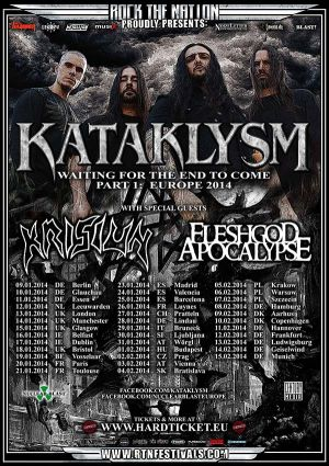 Kataklysm January 2014 Europe Tour